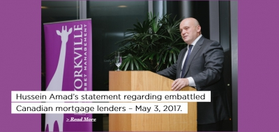 Hussein Amad's statement regarding embattled Canadian mortgage lenders
