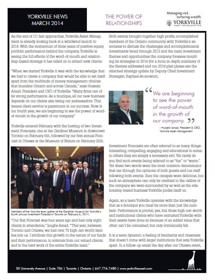 YAM News - March 2014